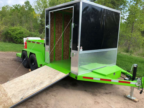 18 foot curbing trailer