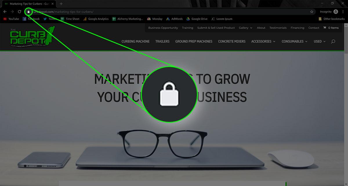 SSL lock icon graphic