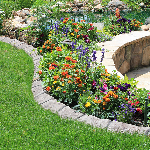 Natural stone landscape curbing